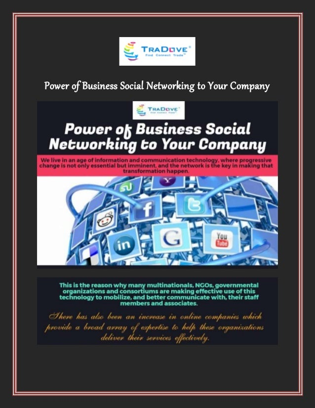 Power of Business Social Networking to Your Company