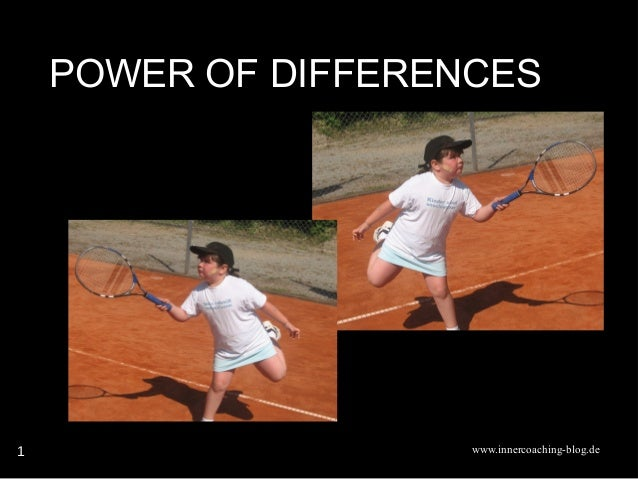 www.innercoaching-blog.de 1 POWER OF DIFFERENCES