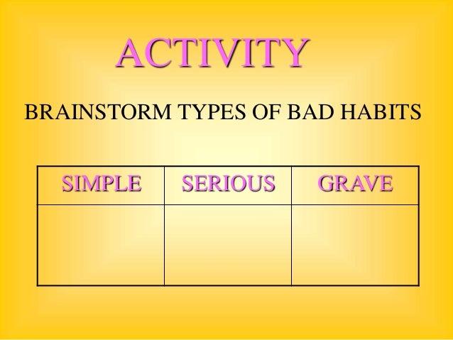 The Big List Of Bad Habits