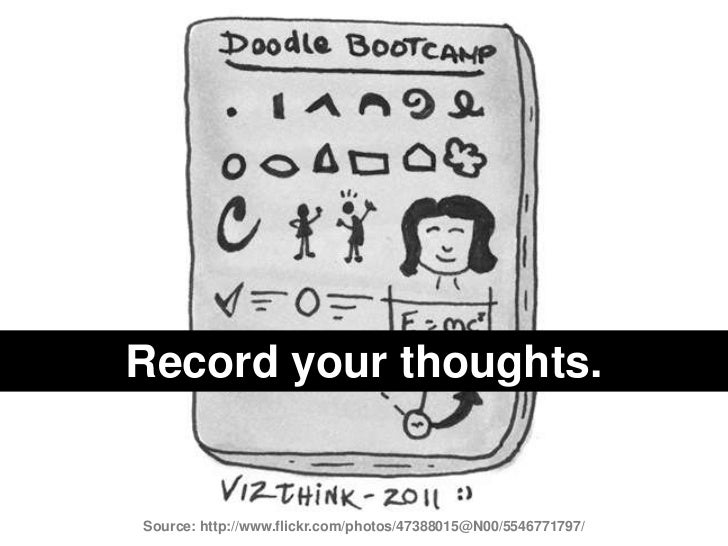 Record your thoughts.<br />Source: http://www.flickr.com/photos/47388015@N00/5546771797/<br />