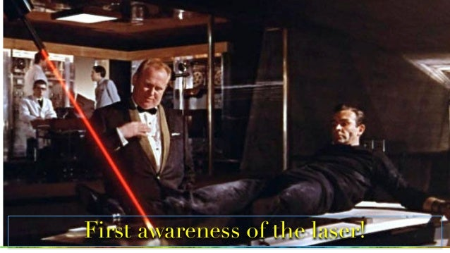 First awareness of the laser!
