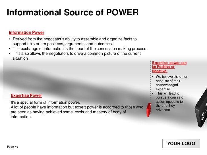 power of negotiation  negotiation power