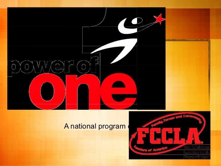A national program of