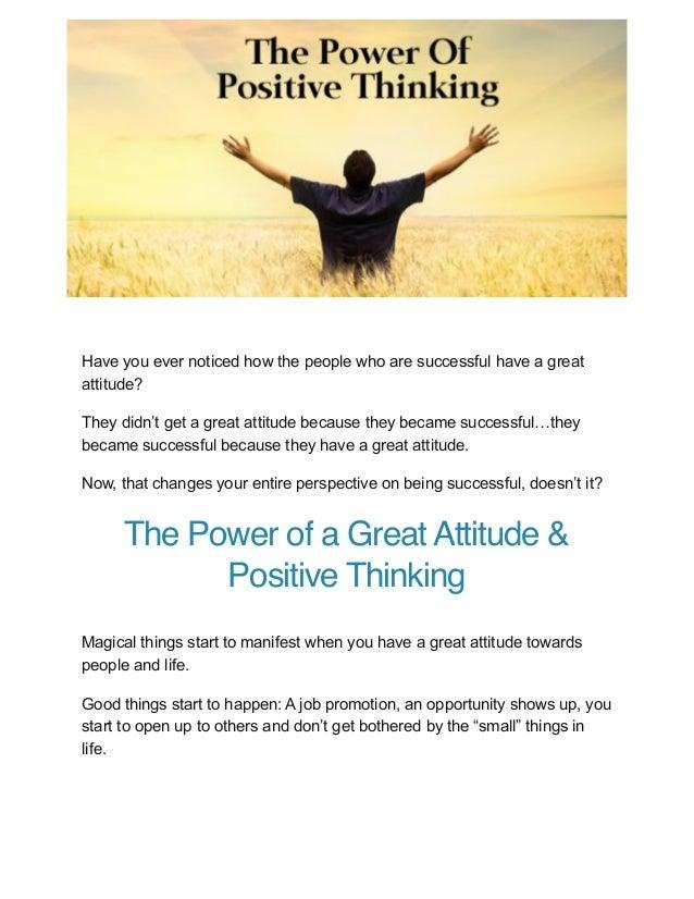 The power of attitude attitude