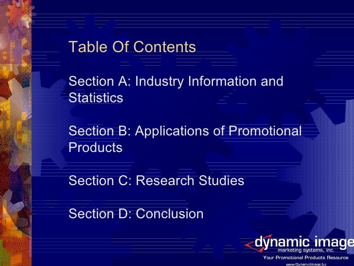 Power Of Promotional Products Dims Slide 2