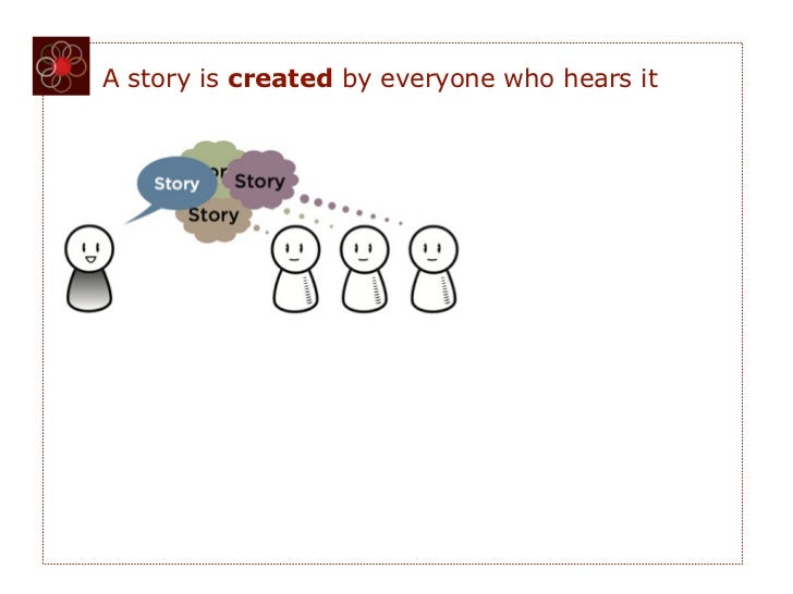 A story is created by everyone who hears it