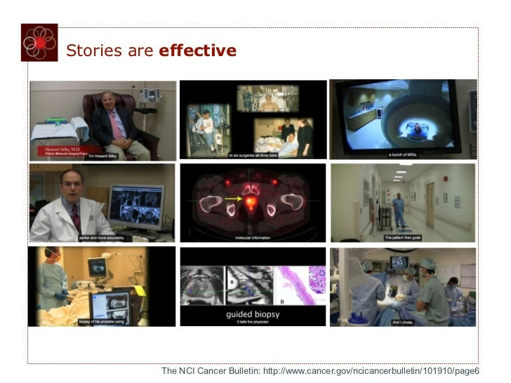 Stories are effective           The NCI Cancer Bulletin: http://www.cancer.gov/ncicancerbulletin/101910/page6