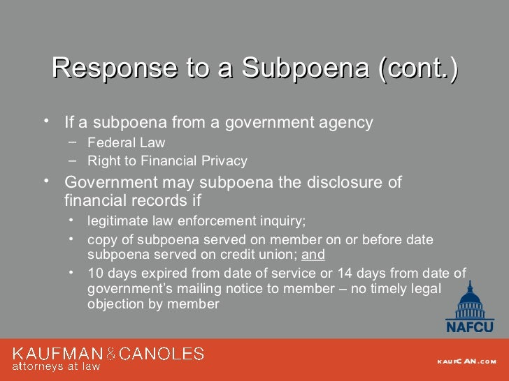 Powers of attorney subpoenas the mistakes abuses potential liab response to a subpoena spiritdancerdesigns Image collections