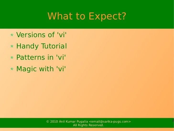 Power of vi Slide 2