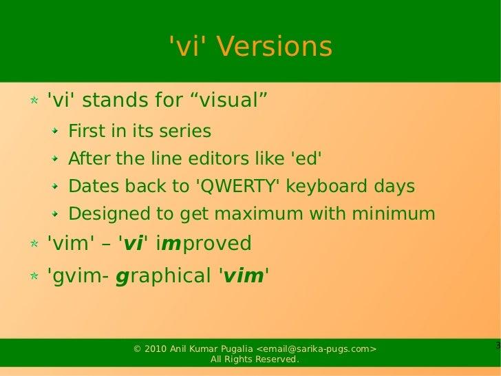 Power of vi Slide 3