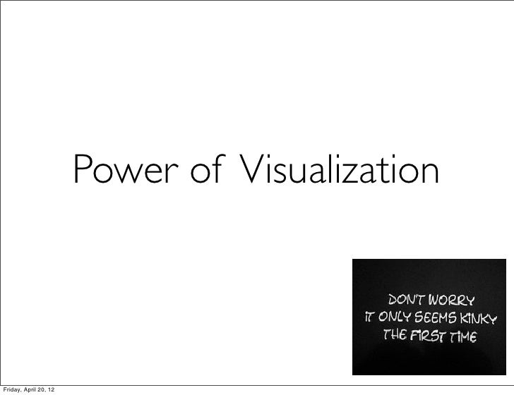 Power of VisualizationFriday, April 20, 12