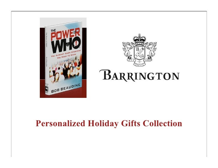 Personalized Holiday Gifts Collection