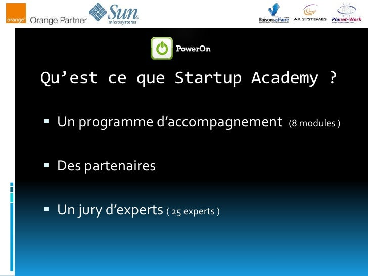 [PowerOn] - Soirée Connect Startup Academy 20090616 Slide 3