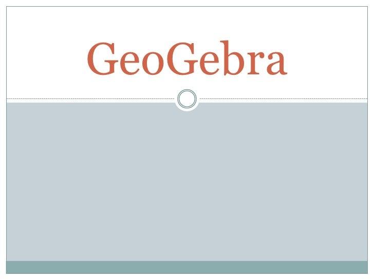 GeoGebra<br />