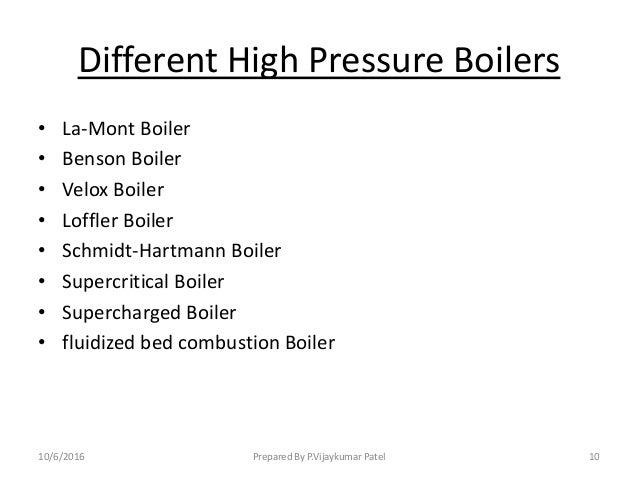 Power plant high pressure boilers
