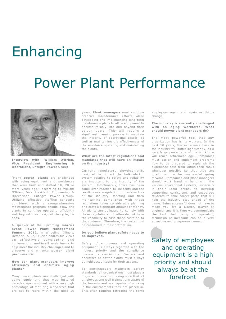 Enhancing              Power Plant Performance                                            years. Plant managers must conti...
