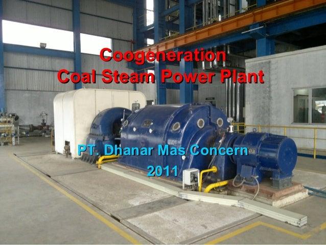 CoogenerationCoogenerationCoal Steam Power PlantCoal Steam Power PlantPT. Dhanar Mas ConcernPT. Dhanar Mas Concern20112011