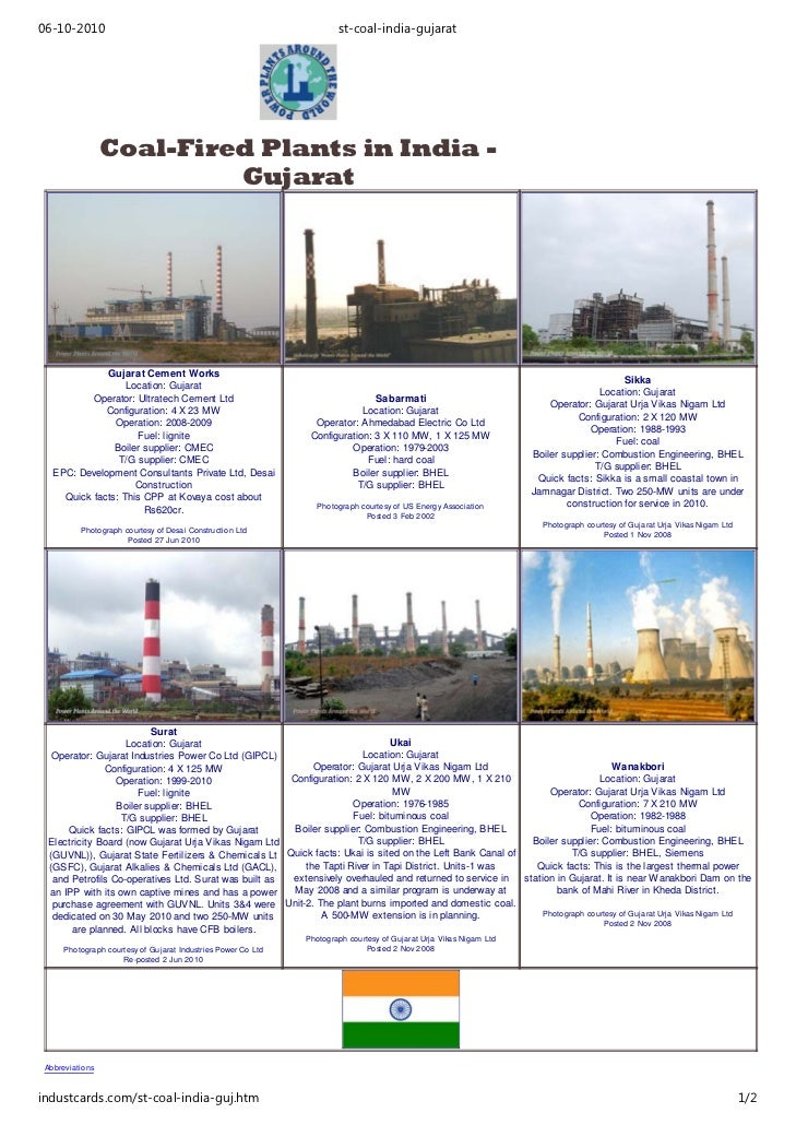 Power Plants Gujarat - - For Sealing Compounds for Power