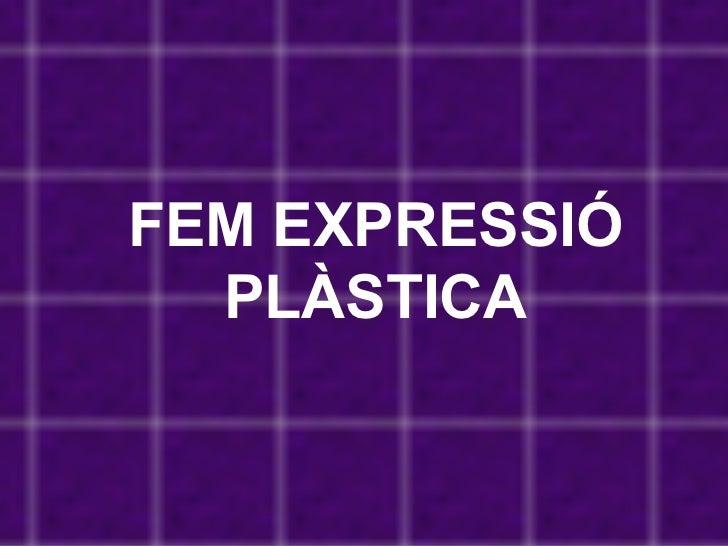FEM EXPRESSIÓ PLÀSTICA