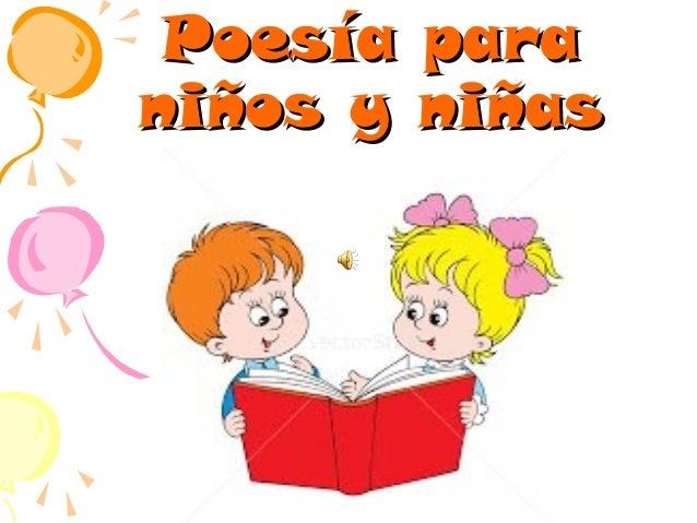 Poesía para niños y niñas