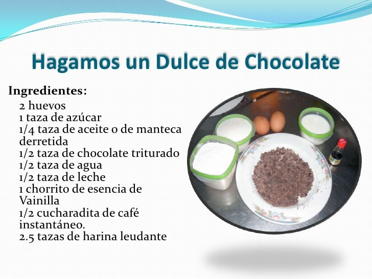 Power point una receta de dulce chocolate - Rectas de cocina faciles ...