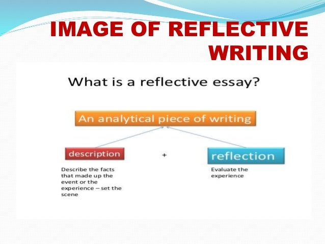 powerpoint portfolio assignment 2 image of reflective writing