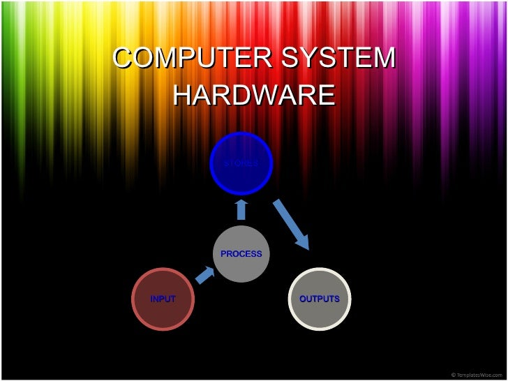 COMPUTER SYSTEM HARDWARE INPUT OUTPUTS STORES PROCESS