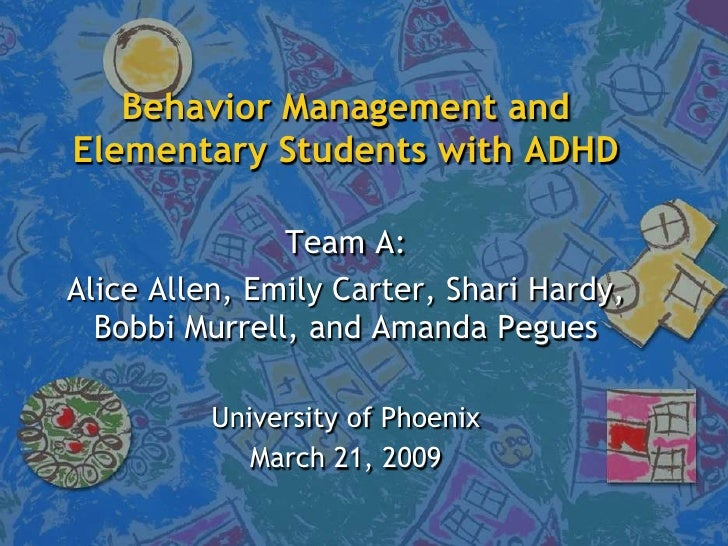 Behavior management and elementary students with ADHD
