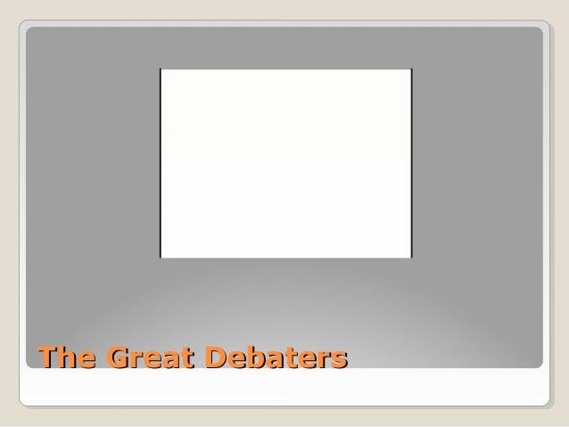 Powerpoint – The Great Debaters Worksheet