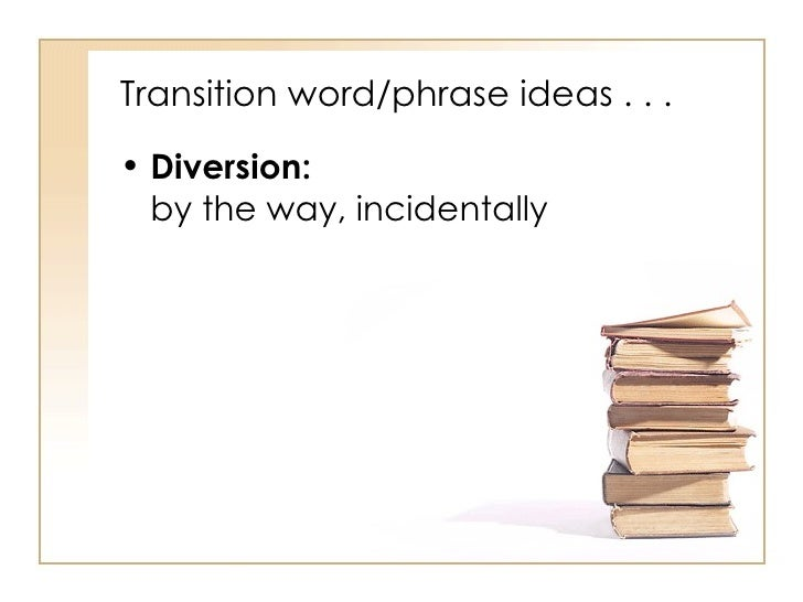 transition phrases for research papers
