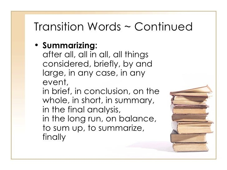 transition words for essays first body paragraph