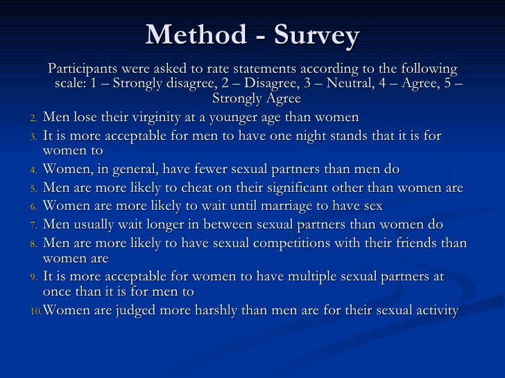 Sexual double standard scale