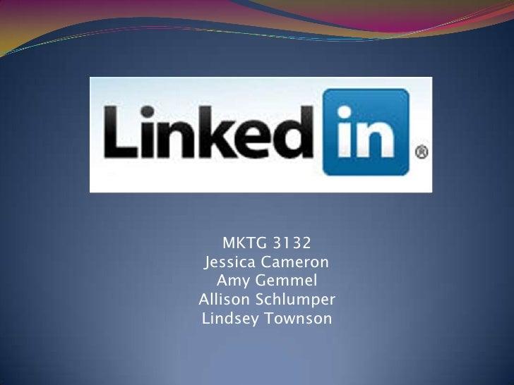 MKTG 3132<br />Jessica Cameron<br />Amy Gemmel<br />Allison Schlumper<br />Lindsey Townson<br />