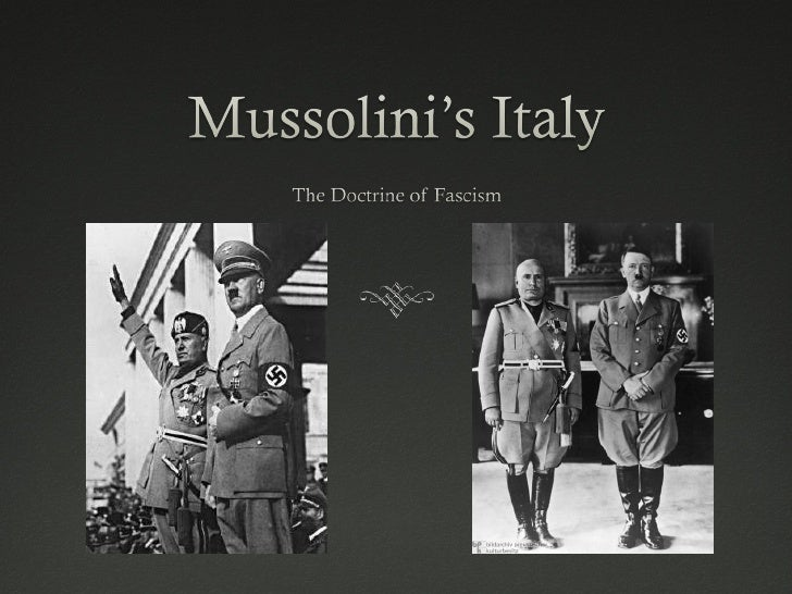 an introduction to mussolini and fascism The rise of fascism due more to the personality of mussolini than the failures of liberal italy in 1922, mussolini became the prime minister of italy this meant the end of liberal italy, and the rise of fascism.