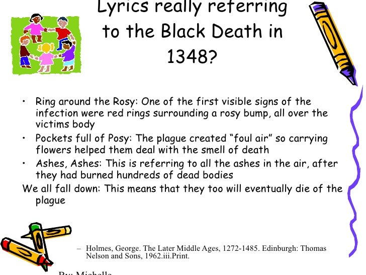 Ring around the rosie meaning the black death
