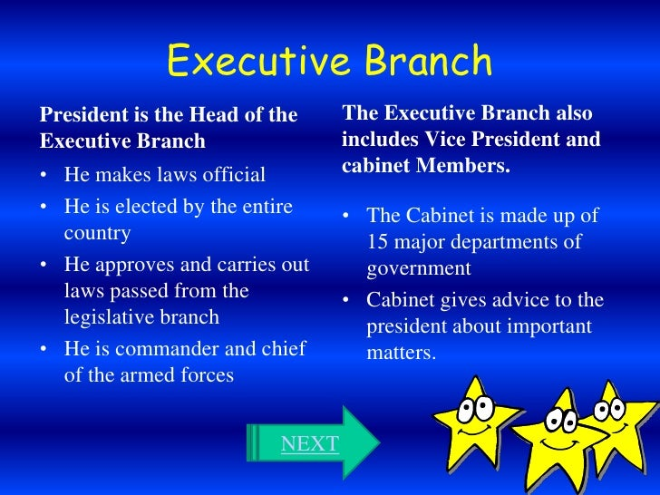 Executive branch essay