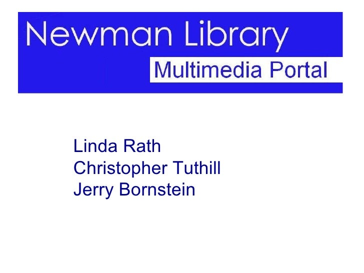 Linda Rath Christopher Tuthill Jerry Bornstein