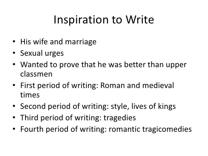 Shakespeare writing style
