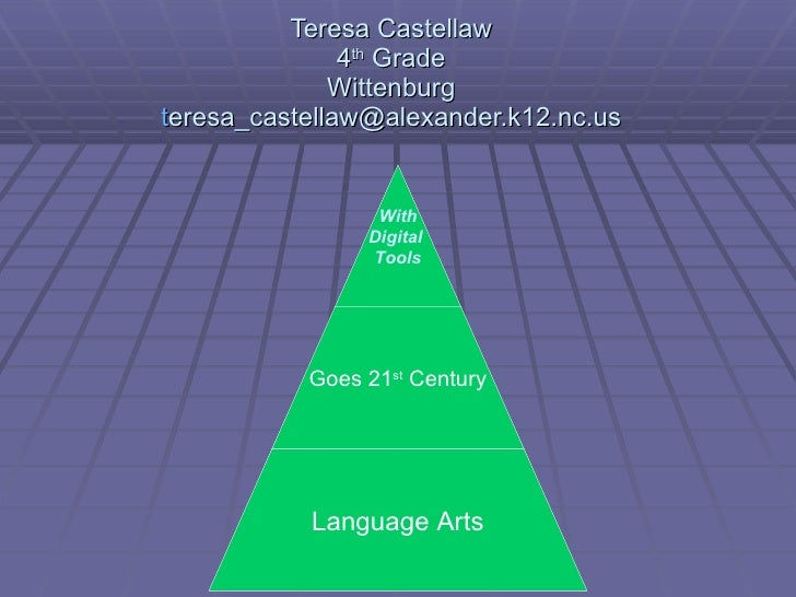 Teresa Castellaw 4 th  Grade Wittenburg t [email_address] With Digital  Tools Goes 21 st  Century Language Arts