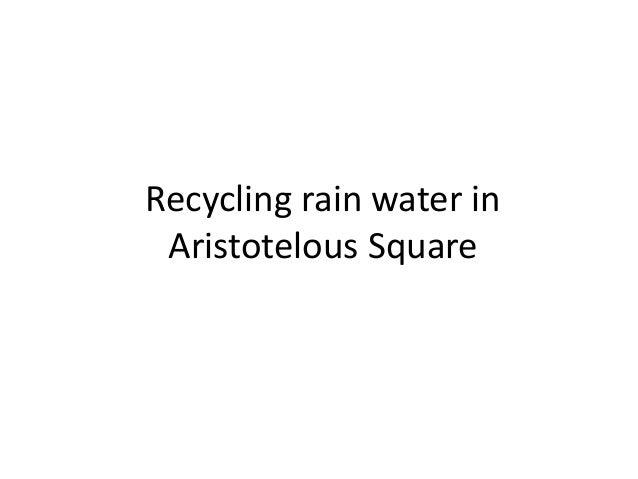 Recycling rain water in Aristotelous Square