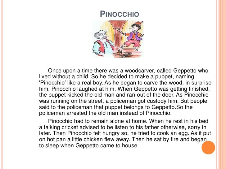 Pinocchio Short Story For Kids