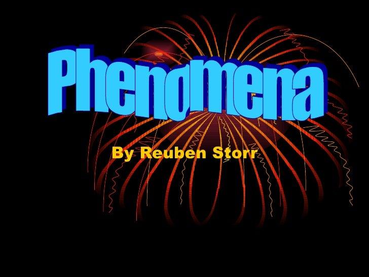 By Reuben Storr Phenomena