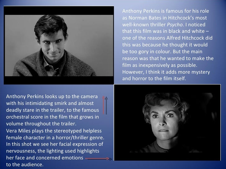 an analysis of psycho by alfred hitchcock I might have a disadvantage over you because i saw alfred hitchcock's psycho  on a big screen the master of suspense's 1960 thriller was.