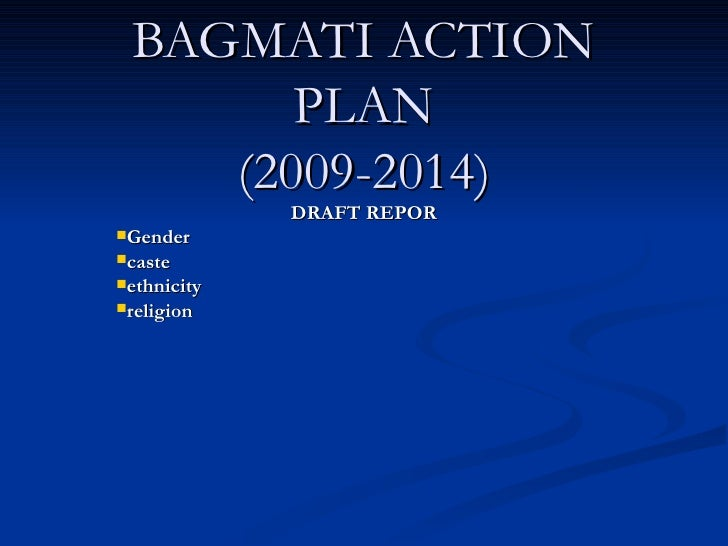 BAGMATI ACTION PLAN (2009-2014) <ul><li>DRAFT REPOR </li></ul><ul><li>Gender  </li></ul><ul><li>caste </li></ul><ul><li>et...