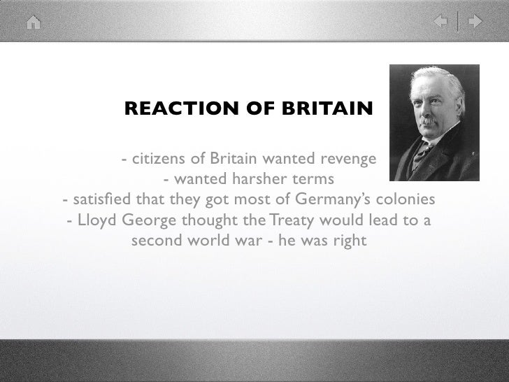 a description of britains immediate reaction to world war i In the wake of the first world war the pressing question for britain and france was less one of future the rhetoric of wilson resonated with nationalist movements and subject peoples around the world in the immediate wake of colonial empires after the war/decolonization.