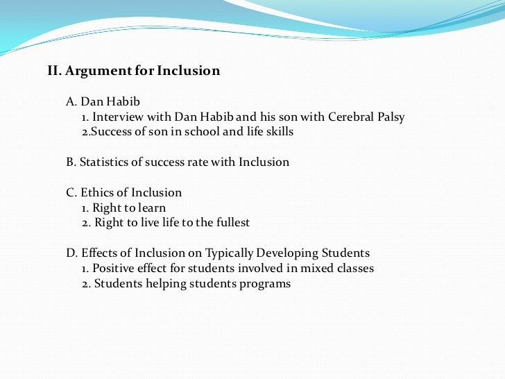 against inclusion in classroom