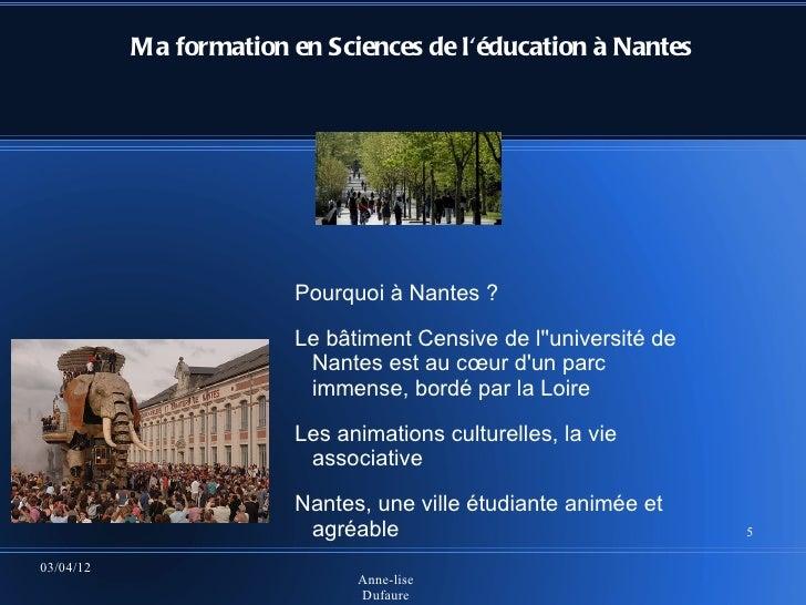 Ma formation en Sciences de léducation à Nantes                        Pourquoi à Nantes ?                        Le bâtim...