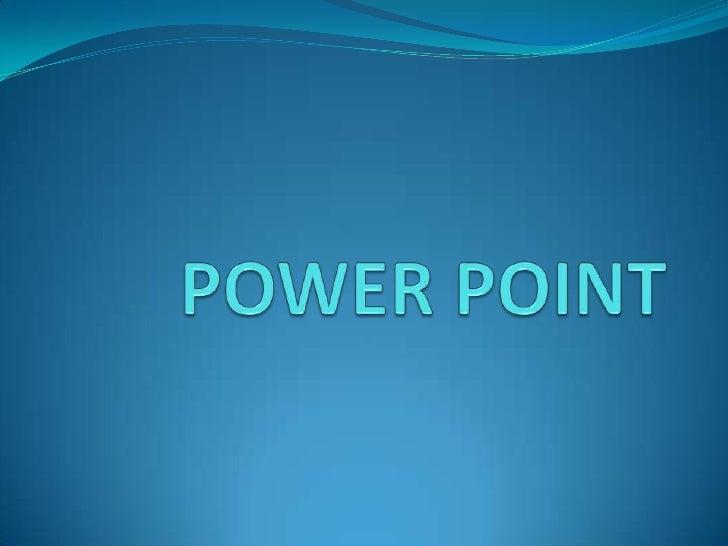 ¿Que es power point? En un programa de presentación desarrollado por la  empresa Microsoft. Productos informáticos que e...