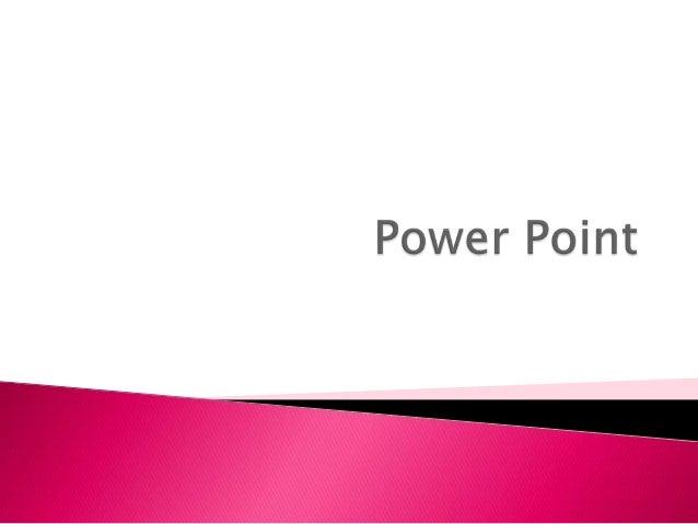    Es el símbolo que aparece y que representa    que es el programa de Power Point, lo puedes    encontrar en la barra de...