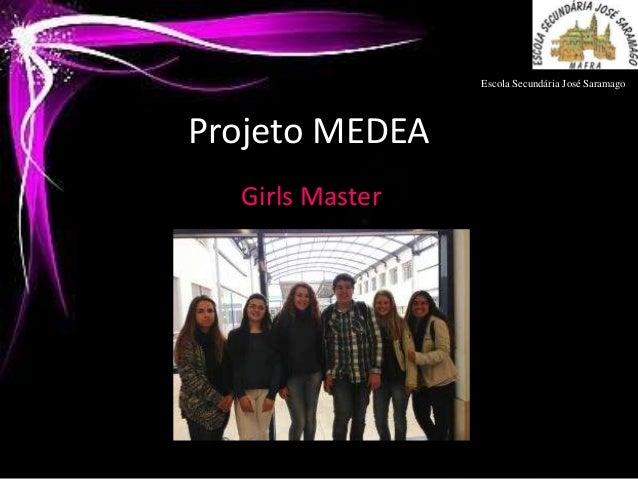 Escola Secundária José SaramagoProjeto MEDEA  Girls Master